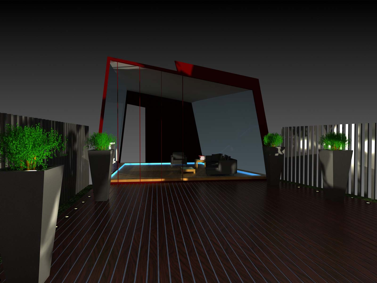 Illuminated Roof Terrace Penthouse Design The Lighting Designers